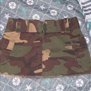 Moda International camo mini skirt